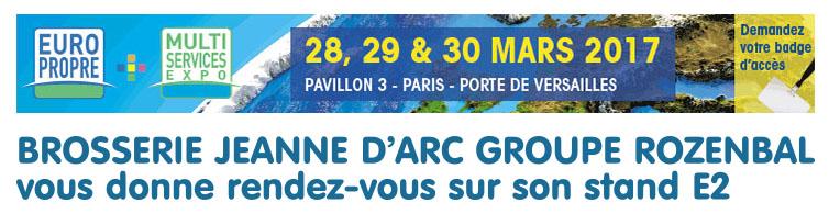 Participation au salon europropre les 28 29 et 30 mars for Salon europropre