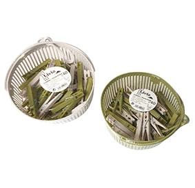 Corbeille + 40 pinces plastique LIVIA