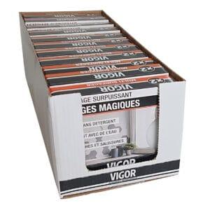 Eponges magiques x 2, en carton prêt à vendre